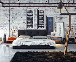 Bedroom Loft Design Industrial Style Loft Apartment Designs