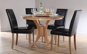comfortable dining room table sets leather chairs in minimalist