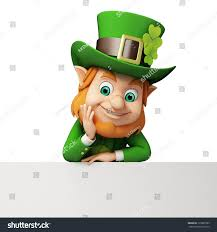 leprechaun big sign st patricks day stock illustration 135907283