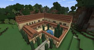 minecraft roman villa by niegelvonwolf on deviantart minecraft