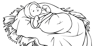 baby jesus clipart black and white 2 clipartix
