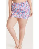 slash prices on ruched high waist skirt swim bottom with brief