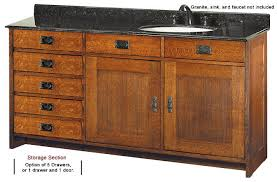 bathroom vanity with sink on right side mission style furniture oak furniture calabasas deluxe single