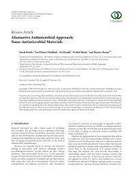 alternative antimicrobial approach nano antimicrobial materials