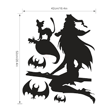 halloween wall stickers vinyl removable wall decals halloween witch wall stickers for