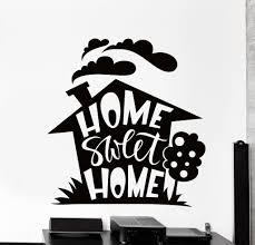 wall vinyl decal home sweet home living room quote words home