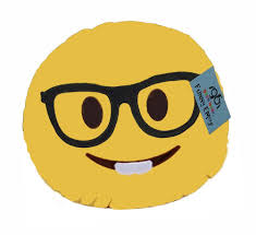 Furniture Emoji Amazon Com Geekbuds Emoji Pillow Soft Plush Nerd Face Home