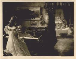 chopin woman playing piano photogravure after a painting by f m bredt published in the of art 1896 good condition
