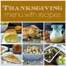 traditional thanksgiving dinner menu mforum