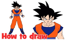 draw goku dragon ball body step step