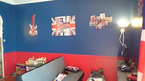 chambre london ado fille chambre rouge et bleu design de maison