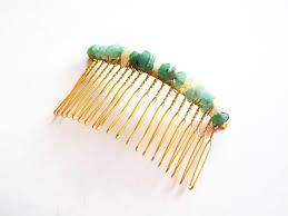 SALE Gemstone Hair b Blue Sodalite Hair bs Gold Hair b