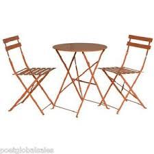 Metal Folding Bistro Chairs Folding Bistro Set Orange Garden Patio Chairs Table Chair Metal