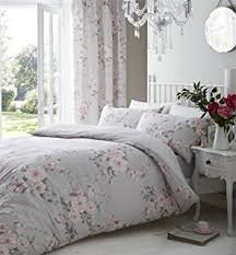 Shabby Chic Bed Linen Uk by Superb Cotton Queen Uk King Size Pink Blue Rose Floral Reversible