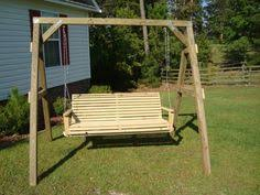 cabbage hill 5 u0027 porch swing wood country yard ideas