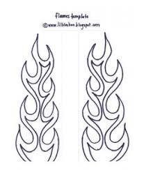 flames template craft ideas pinterest stenciling patterns