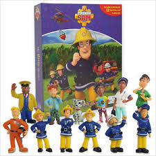 fireman sam busy book 12 figures playmat cake toppers bn