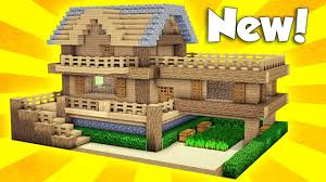 build a house minecraft wooden survival house tutorial how to build a house