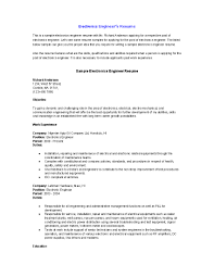 Resume For Non Experienced Electronics Experience Resume Resume For Your Job Application