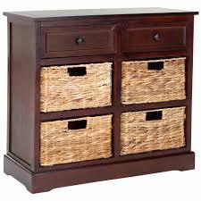 storage unit with wicker baskets safavieh herman storage unit walmart com