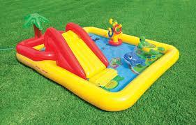 Intex Inflatable Pool Intex Ocean Play Center Baby Kids Inflatable Wading Splash Pool