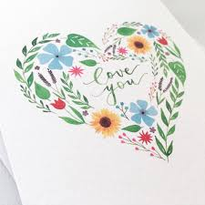 you it you buy it s day heart you floral heart s day card by eleri haf designs