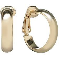 clip on hoop earrings trifari gold tone clip on hoop earrings polyvore
