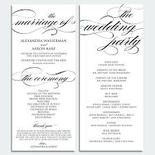 wedding programs wording template wedding programs template for word awesome non religious