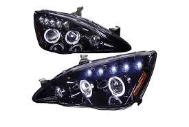Honda Accord Lights Spec D Tuning Honda Accord 2003 2007 Led Halo Black Projector