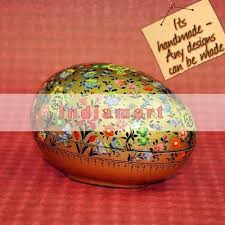 paper mache egg paper mache easter egg box multi color floral golden garden at