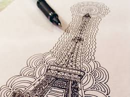 eiffel tower drawing meditation by kaitlyn parker dribbble