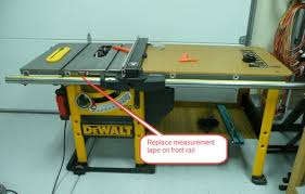 dewalt table saw dw746 dw746 table saw install new measurement tape on dw746 table saw