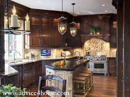 cherry wood kitchen designs cherry wood kitchen cabinets design and hanging candle light and