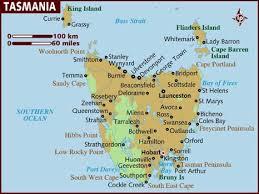 map of tasmania australia map of tasmania