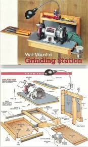 876 best garage images on pinterest garage workshop workshop wall mounted grinder sharpening station plans sharpening tips jigs and techniques woodarchivist