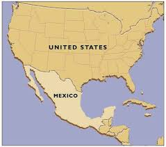 map usa y mexico us map and mexico major tourist attractions maps