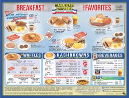 Woodsman Menu Waffle House Menu Breakfast 2 Waffles Bacon And Hashbrowns
