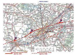 Tornado Map Deadly Tornado April 8 1998
