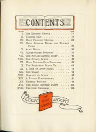cookbook table of contents children s cookbooks what s cookin special collections