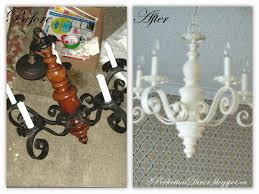2perfection decor vintage chandelier before u0026 after