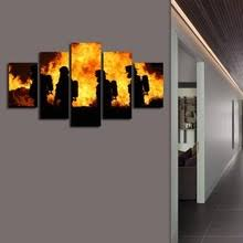 Firefighter Home Decorations Firefighter Wall Art Promotion Shop For Promotional Firefighter