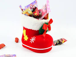 christmas tree decoration ornaments red flocking christmas boots