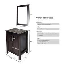 elecwish 24 bathroom vanity modern stand pedestal cabinet wood
