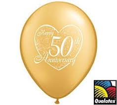 fiftieth anniversary 12 50th anniversary balloons 11 gold color