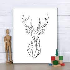 online get cheap geometric deer head aliexpress com alibaba group
