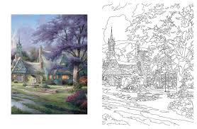posh coloring book thomas kinkade designs inspiration