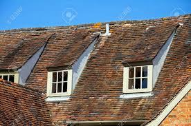 rooftop window detail in tudor style buildings tewkesbury