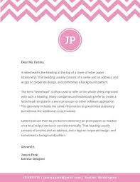Interior Designer Costs by White With Pink Chevron Interior Designer Personal Letterhead Us