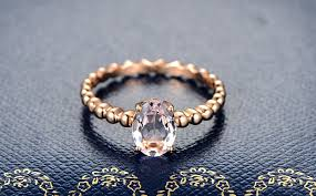 gold and morganite ring 1 50 carat solitaire morganite gemstone engagement ring in