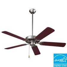 nutone standard series 52 in indoor brushed steel ceiling fan